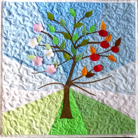 Helen Hazon – Seasons – The Apple tree | FIFTEEN BY FIFTEEN : apple tree quilting - Adamdwight.com