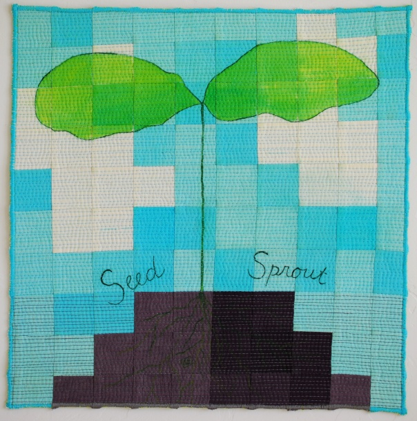genevieve guadalupe seed sprout artquilt2 15x15'' 2020